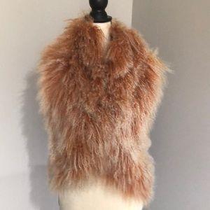 Alice + Olivia sheep fur vest; size S